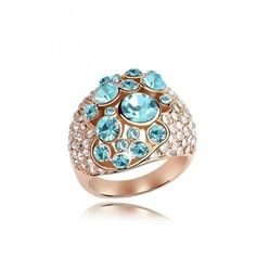 Create your own style with this Cocktail Ring. La Mia Cara Jewelry - Unique, Fashionable & Affordable This multicolour charm luxury Cocktail Ring features Crystal Jewelry, Jewelry Rings, Unique Jewelry, Crystal Ring, Jewellery, Clear Crystal, Swarovski Ring, Swarovski Crystals, Fashion Rings