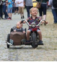 Bike w Sidecar - Harley Davidson Motorcycles, Custom Motorcycles, Custom Bikes, Cars And Motorcycles, Custom Vans, Mini Bike, Motorcycle Humor, Moto Scooter, Velo Cargo