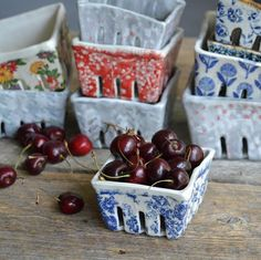handmade ceramic berry baskets Slab Pottery, Pottery Bowls, Ceramic Pottery, Slab Ceramics, Porcelain Ceramics, Ceramic Clay, Ceramic Bowls, Scandinavian Vases, Ceramics Projects