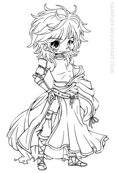 chibi coloring pages to download and print for free coloring