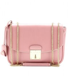 Marc Jacobs Pink Mini Polly Leather Shoulder Bag//