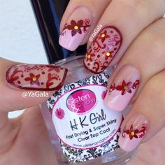 Yagala - Autumn Floral Design - Nail Art Gallery