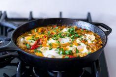 Shakshuka from Yotam Ottolenghi Plenty Cookbook