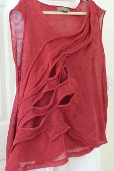 gorgeous ZUZA BART 100% linen asymmetric berry tunic/ top size XL #ZuzaBart