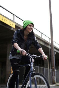 Bridge, green, bicycle, yellow...