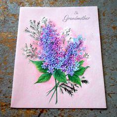 Vintage Card Easter Hallmark To Grandmother Lilacs by TheBackShak, $4.00