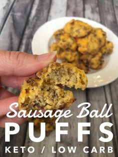 "TweetEmail TweetEmail Share the post ""Sausage Ball Puffs {Keto / Low Carb}"" FacebookPinterestTwitterEmail My husband loves sausage balls, but the ones I normally make are full of carbs. So, as a special keto surprise, I've been working on creating the perfect Sausage Ball Recipe. Most of the ones I've tried have been extremely dry, likecontinue reading..."