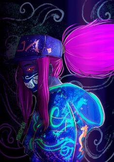 Kda Popstar Akali - Lol FanArt by Yurikomori Wallpapers and . Akali League Of Legends, Lol League Of Legends, Cool Anime Pictures, Art Pictures, Akali Lol, Character Art, Character Design, Neon Girl, My Fantasy World