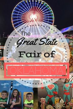 The truth is that our family loves the Oklahoma State Fair! Nothing says Americana like Ferris wheel lights, carnival rides and chocolate covered bacon. But I'm all about the deep-fried Best Places To Vacation, Vacation Destinations, Vacation Spots, Oklahoma Usa, Vacations In The Us, Carnival Rides, Old Florida, Adventure Activities, Travel Usa