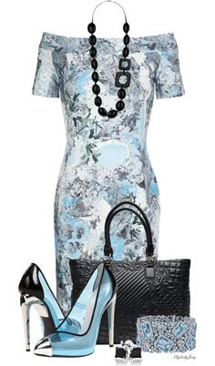 """Giuseppe Zanotti Black n' Blue"" by stylesbyjoey ❤ liked on Polyvore"
