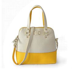 Taking The Kate Spade Grove Court Maise Beige With Yellow ABN Make You Different From Others! Fashion