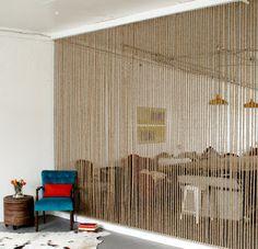 Essencialmente Borboleta: Divisória de corda:: Rope Wall