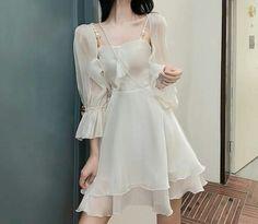 Korean Fashion Dress, Ulzzang Fashion, Kpop Fashion Outfits, Mode Outfits, Fashion Dresses, Kawaii Fashion, Cute Fashion, Cute Dresses, Casual Dresses