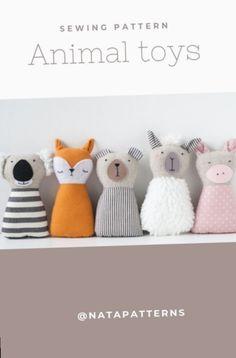 Animal Sewing Patterns, Stuffed Animal Patterns, Sewing Patterns Free, Bear Patterns, Sewing Stuffed Animals, Fabric Toys, Fabric Crafts, Kinder Chocolate Cake, Cute Diy