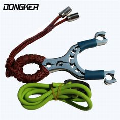 DONGKER Outdoor Shooting Hunting Slingshot Pocket Catapult Stainless Steel With Rubber Band Paintball Airsoft Fishing Slingshot