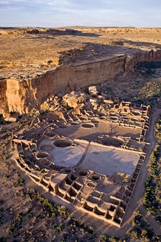 UNESCO World Heritage Site - Pueblo Bonito, Chaco Culture National Historical Park, Chaco Canyon, New Mexico