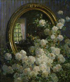 Abbott Fuller Graves - fleurs et miroir. Princess Aesthetic, Nature Aesthetic, Wow Art, Classical Art, Renaissance Art, Pretty Art, Pretty Pictures, Art Pictures, Aesthetic Pictures
