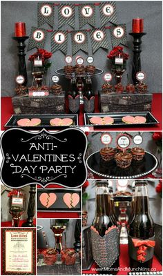 Anti-Valentine's Day Party - a fun single's party idea! Includes printables, treat ideas, DIY decorating ideas and more.