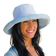 4bed2ffec24 Kooringal Ladies Upturn Noosa Print Women s Wide Sun   Beach Hat Sun  Protection One Size Fits Most (White) at Amazon Women s Clothing store