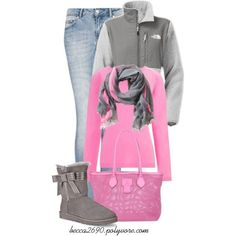 """""""Northface and Uggs"""" by becca2690 on Polyvore"""