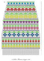 Taimitarha: Taimitarhan Kukkasukat Fair Isle Knitting, Knitting Socks, Hand Knitting, Knitting Patterns, Cross Stitch Borders, Counted Cross Stitch Patterns, Cross Stitch Charts, Fair Isle Pattern, Paper Embroidery