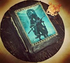 Bloodborne book cake - cake by Emily Lovett