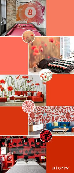 Red Wall Murals ✓ Eco-Friendly ✓ Online Configuration ✓ We will help you choose a pattern!