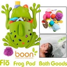 Great deal at Costco - froggy bath toys scooper/holder, toys and faucet cover/water deflector