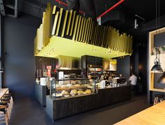 wood but modern looking 11 Inch Pizzeria by Zwei Interiors and Architecture Melbourne