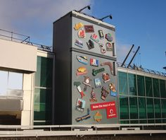 clever ads on side of buildings