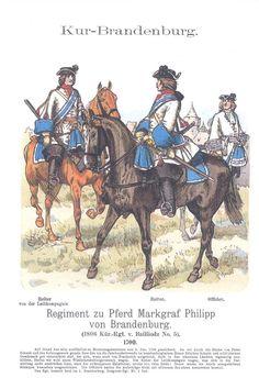 Band XIV #46.- Kur-Brandenburg. Rgt. zu Pferd Markgraf Philipp von Brandenburg. 1700.