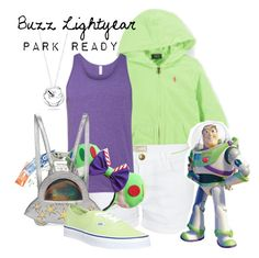 """""""Buzz Lightyear: Park Ready"""" by laniocracy ❤ liked on Polyvore featuring Current/Elliott, Charlotte Olympia, Vans, Belk Silverworks, toystory and disneyland"""