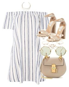 Untitled #5007 by olivia-mr on Polyvore featuring Topshop, Steve Madden, Chloé, Charlotte Russe, GUESS and Linda Farrow