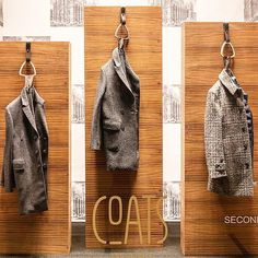 """LA RINASCENTE, Milan, Italy, """"Coat on the hook and a nice hello for me, Please"""",  for Coats Milano, pinned by Ton van der Veer"""