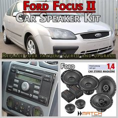 Ford Focus II car speakers upgrade kit for front and rear doors - Car Hifi Radio Adapter.eu Ford Focus II 2004 - 2010