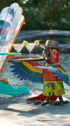 A tried and true Parrothead, Petey the Party Parrot Table is a perfect addition to your next outdoor gathering. | Margaritaville by Frontgate