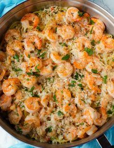 Garlic Parmesan Shrimp Scampi Pasta! – My Incredible Recipes