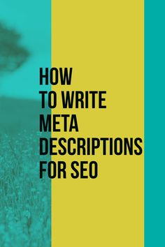 How to write meta descriptions for SEO (with good and bad examples) - Search Engine Watch Search Engine Watch, Marketing Professional, Seo, Digital Marketing, Product Description, Social Media, Writing, Social Networks, Being A Writer