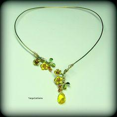 https://flic.kr/p/r7FZBr | Sunny Yellow  Torque necklace