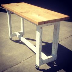 Kitchen Island Bench On Wheels brickmaker's dining table | dining tables | restoration hardware