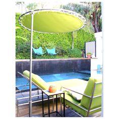 Poolside umbrella American, Outdoor Decor, Home Decor, Decoration Home, Room Decor, Home Interior Design, Home Decoration, Interior Design
