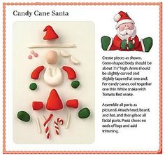 Fondant Santa topper!