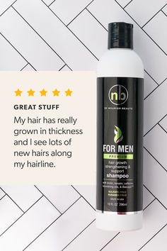 Our premium men's hair growth shampoo is jam-packed with nutrients specifically chosen to nourish a man's scalp. Check it out and say goodbye to hair loss! Oil For Hair Loss, Stop Hair Loss, Prevent Hair Loss, Hair Loss Cure, Home Remedies For Hair, Hair Loss Remedies, Oily Scalp, Pyrus, Hair Removal Cream