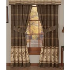 Browning Buckmark Curtains, Drapes.