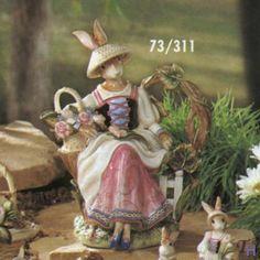 Old World Rabbits teapot
