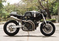Ducati Monster Cafe Racer from Thailand by Nattapat Janyapanich Cb550 Cafe Racer, Triumph Cafe Racer, Ducati Motorcycles, Custom Motorcycles, Custom Bikes, Ducati Sport Classic, Bobber Custom, Custom Cafe Racer, Moto Cafe