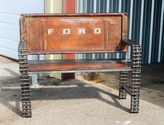 https://flic.kr/p/qMWbhd | Old Truck Tailgate Bench | Recycled Salvage Design www.recycledsalvage.com