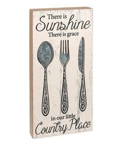 Look at this #zulilyfind! 'There Is Sunshine, There Is Grace' Wall Sign #zulilyfinds