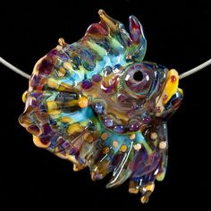 Glass Lampwork Bead Fish  Angelfish Beauty by by PatsyEvinsStudio, $127.00