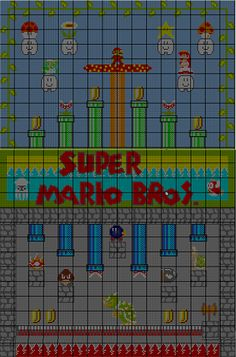 Super Mario Brothers Cross Stitch Pattern